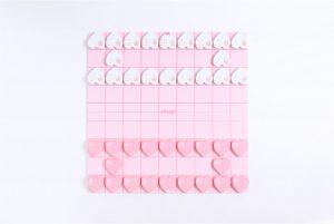 ピンク色のハート将棋盤