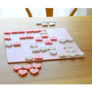 ハート将棋の将棋盤と将棋の駒
