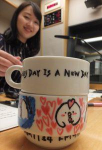 加納有沙さんとお絵かきマグカップ