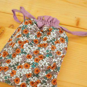花柄の巾着